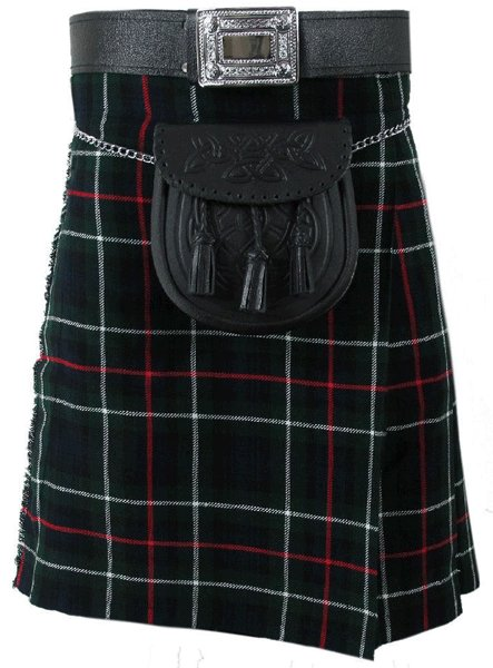 Highland Kilt for Men Tartan Kilt 40 Size MacKenzie Scottish 5 Yard 10 oz.