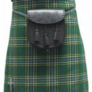 Highland Kilt for Men Irish Tartan Kilt 26 Size Irish National 5 Yard 10 oz. Scottish Kilt