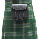 Highland Kilt for Men Irish Tartan Kilt 34 Size Irish National 5 Yard 10 oz. Scottish Kilt