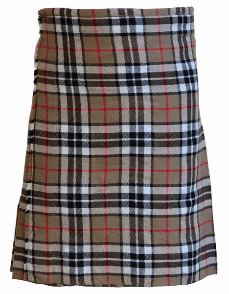 Tartan Kilt in Camel Thompson Kilt Highland Traditional Kilt 58 Size Scottish 5 Yard 10 Oz. Kilt
