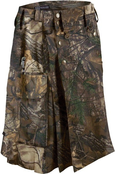 Deluxe Real Tree Camouflage Kilt 46 Size Unisex Outdoor Utility Kilt Tactical Kilt
