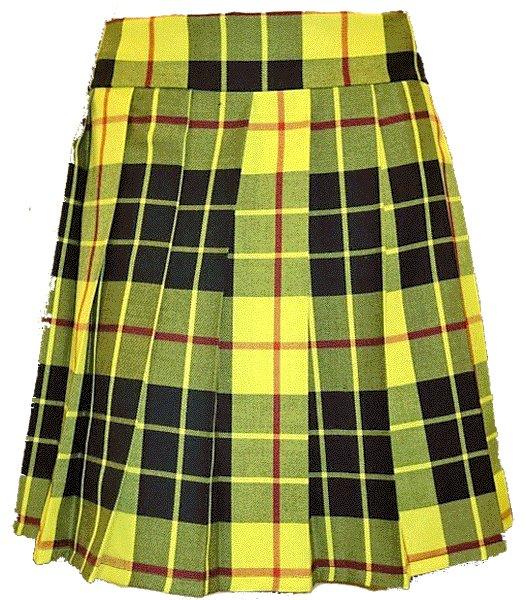 Ladies Knee Length Kilted Skirt, 26 Waist Size Mcleod of Lewis Tartan Ladies Kilted Skirt