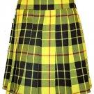 Ladies Knee Length Kilted Skirt, 30 Waist Size Macleod of Lewis Tartan Ladies Kilted Skirt