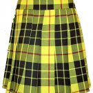 Ladies Knee Length Kilted Skirt, 32 Waist Size Macleod of Lewis Tartan Ladies Kilted Skirt