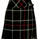 Ladies Knee Length Billie Kilt Mod Skirt, 38 Waist Size Mackenzie Kilt Skirt Tartan Pleated