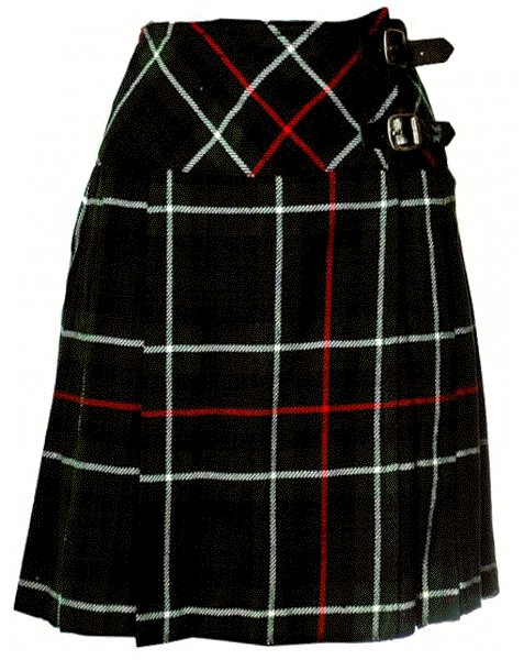 Ladies Knee Length Billie Kilt Mod Skirt, 46 Waist Size Mackenzie Kilt Skirt Tartan Pleated