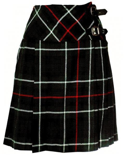 Ladies Knee Length Billie Kilt Mod Skirt, 52 Waist Size Mackenzie Kilt Skirt Tartan Pleated