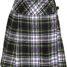 Ladies Knee Length Billie Kilt Mod Skirt, 28 Waist Size Dress Gordon Kilt Skirt Tartan Pleated