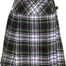 Ladies Knee Length Billie Kilt Mod Skirt, 32 Waist Size Dress Gordon Kilt Skirt Tartan Pleated