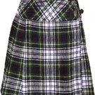 Ladies Knee Length Billie Kilt Mod Skirt, 46 Waist Size Dress Gordon Kilt Skirt Tartan Pleated