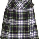 Ladies Knee Length Billie Kilt Mod Skirt, 50 Waist Size Dress Gordon Kilt Skirt Tartan Pleated