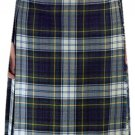 Ladies Full Length Kilted Skirt, 38 Waist Size Dress Gordon Tartan Pleated Kilt-Skirt