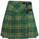 Ladies Irish Tartan Kilt Scottish Mini Billie Kilt Mod Skirt Fit to Size 28 Waist