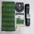 5 in 1 Irish National Custom Size Traditional Tartan Kilt Made to Measure 52 Waist