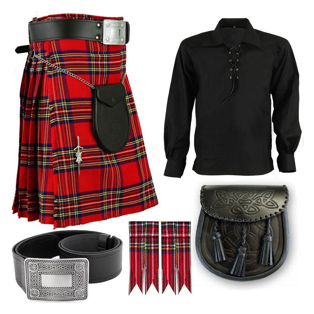 5 in 1 Kilt Deal Traditional Royal Stewart kilt-Skirt Deal of 36 Waist