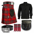 5 in 1 Kilt Deal Traditional Royal Stewart kilt-Skirt Deal of 56 Waist