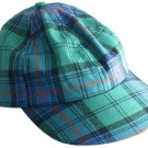 Tartan Plaid Woolen Fabric Baseball Cap Golf Cap in Scottish Irish National Tartan Polo Cap Hat