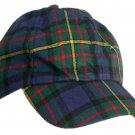 Tartan Plaid Woolen Fabric Baseball Cap Golf Cap in Scottish Hunting Stewart Tartan Polo Cap Hat