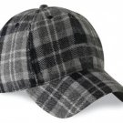 Tartan Plaid Woolen Fabric Baseball Cap Golf Cap in Scottish Gray Watch Tartan Polo Cap Hat