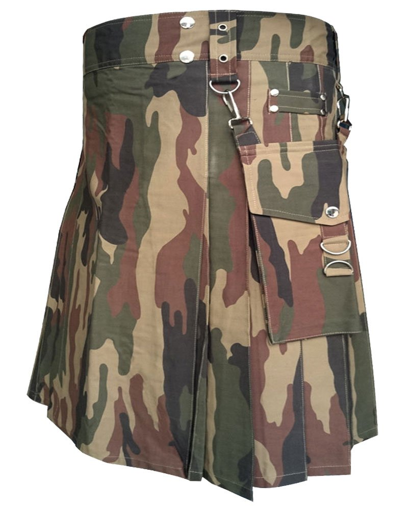 Size 34 Realtree Camo Tactical Duty Utility Kilt Camo Kilt With Cargo Pockets