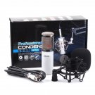 New Professional Condenser Microphone Studio Recording with Shock Mount White