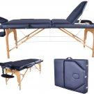 Brand New BestMassage Black PU Reiki Portable Massage Table w/Carry Case U9