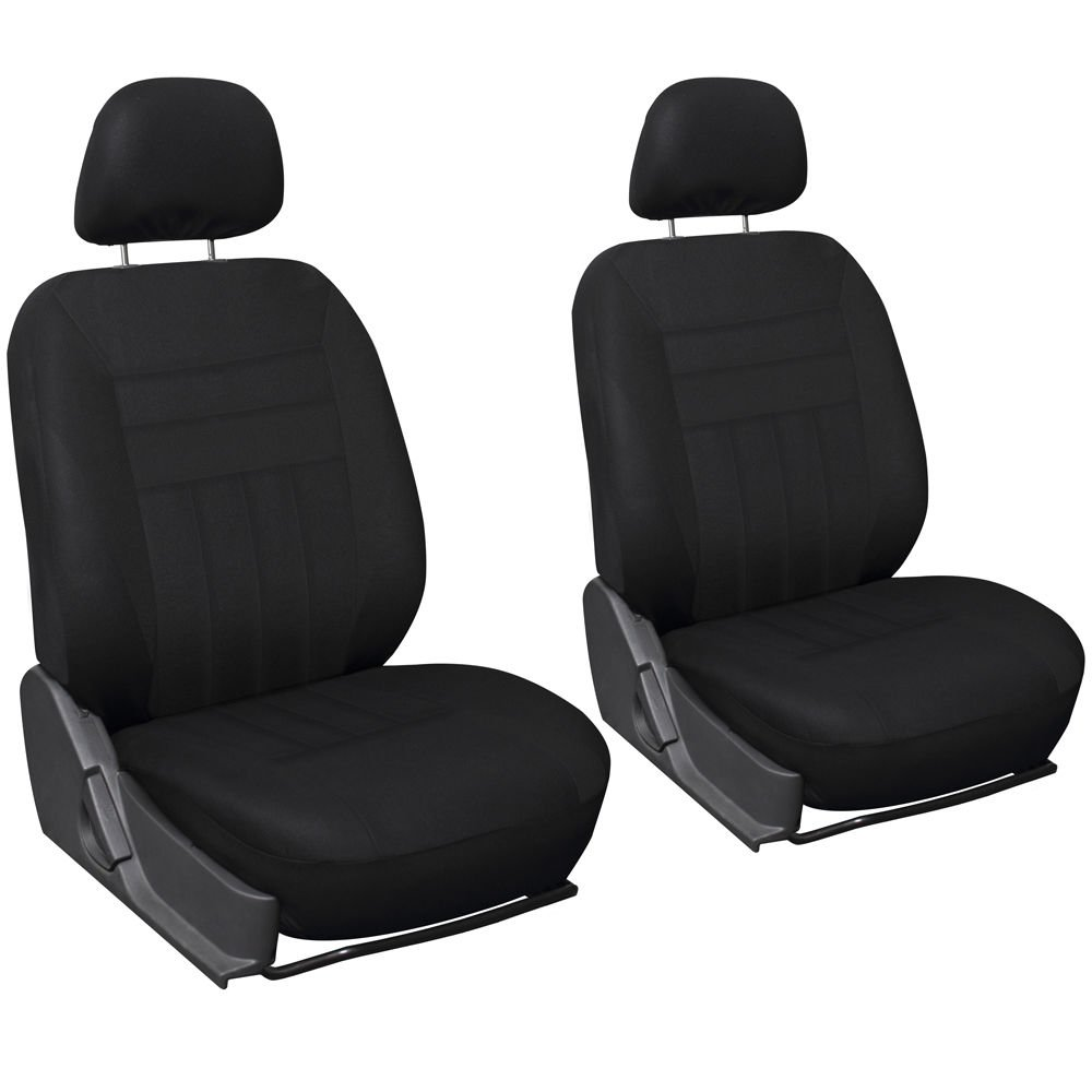 New Car Seat Covers For Auto Toyota Corolla 6pc Bucket Set Black w/Head Rest Mesh