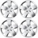 "New 4 Pc Set of 16"" Inch Silver Hub Caps Full Lug Skin Rim Cover for OEM Steel Wheel"