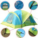 Waterproof 10 Person Camping Tent Outdoor Hiking Two Layer Backpack Blue/Green