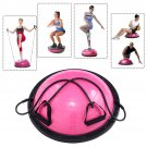 "23"""" Yoga Ball Balance Trainer Yoga Fitness Strength Exercise Workout w/Pump Rose"