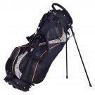 "9"""" Golf Stand Bag Club 7 Way Divider Carry Organizer Pockets Storage Black New"