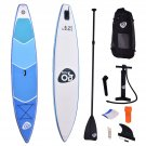 12.5' Inflatable Stand Up Paddle Board w/ Adjustable Paddle Travel Backpack New