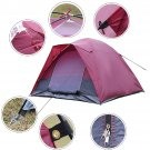 Waterproof 5-7 Person Camping Tent Outdoor Travel Hiking Two Layer Backpack Red