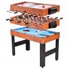 "48"""" 3-In-1 Multi Combo Game Table Foosball Soccer Billiards Pool Hockey For Kids"