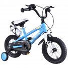 "12"""" Freestyle Kids Bike Bicycle Children Boys & Girls w Training Wheels Blue"