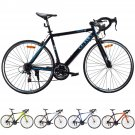 Shimano 700C 52cm Aluminum Road/Commuter Bike Bicycle 21 Speed Quick Release Black