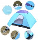 Waterproof 4-5 Person Camping Tent Outdoor Hiking Double Layer Backpack Blue