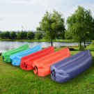Outdoor Lazy Inflatable Couch Air Sleeping Sofa Lounger Bag Camping Bed Portable Orange