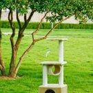 "New Beige 42"""" CAT TREE CONDO FURNITURE SCRATCHPOST PET HOUSE 22"