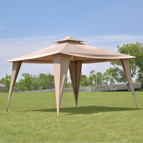 2 Tier 11 X11 Gazebo Canopy Shelter Awning Tent Steel