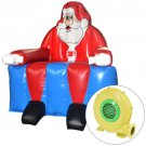 Inflatable Santa Claus Bounce House Castle Jumper Christmas Bouncer w/Blower