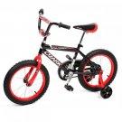 "NEW 16"""" Steel Frame Children BMX Boy Kids Bike Bicycle With Training Wheels 16B"