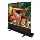 """100"""""""" Inch 4:3 Portable Pull Up Floor Screen Projector Projection Aluminium Case"""