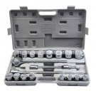 "Goplus 21pcs SAE 3/4"""" Drive Socket Set w/ Case Jumbo Ratchet Wrench Extension"