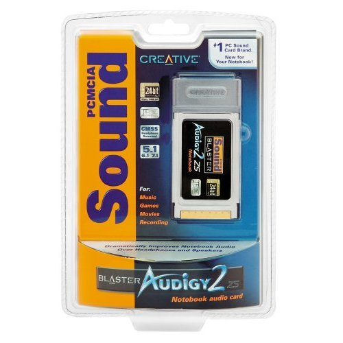 +NEW+ Creative Labs PCMCIA Sound Blaster Audigy 2 ZS Notebook Sound Card +FREE SHIP+