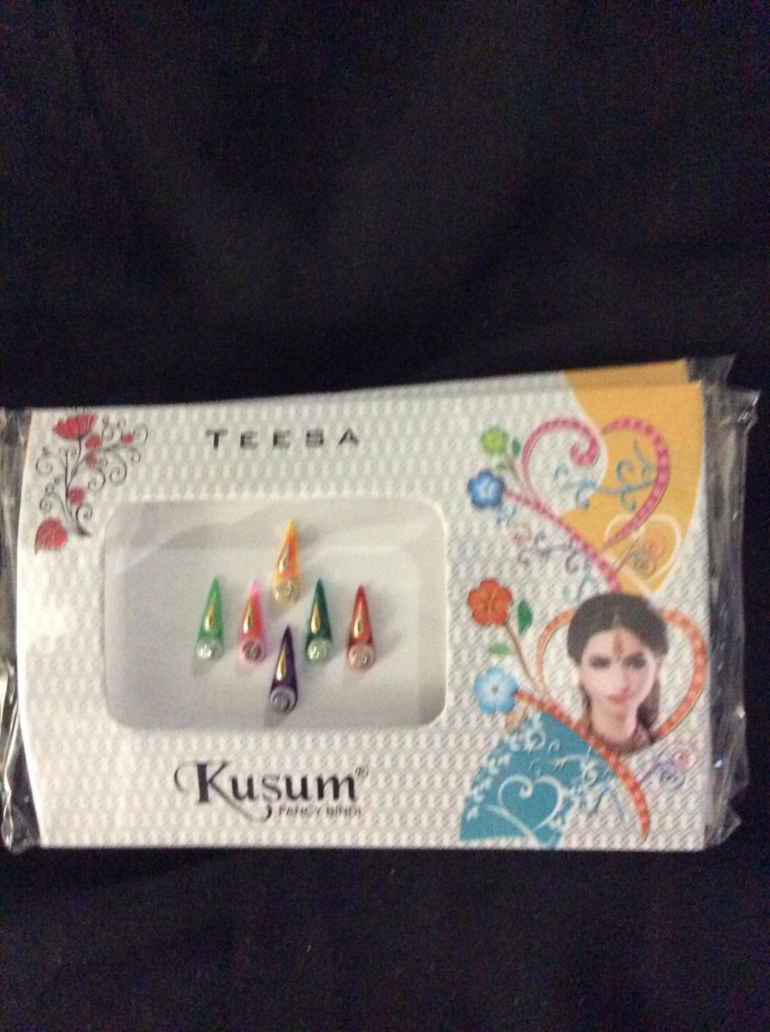 Free Shipping 5 Assorted pack Bindi Body or Henna decorations Bridal Tika Indian Body Decorations