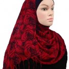 Free Shipping Red Romance Viscose Shawl