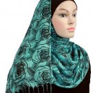 Free Shipping TurquoiseRomance Viscose Shawl