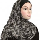 Free Shipping  Gray Romance Viscose Shawl Hijab Hejab Muslim headscarf