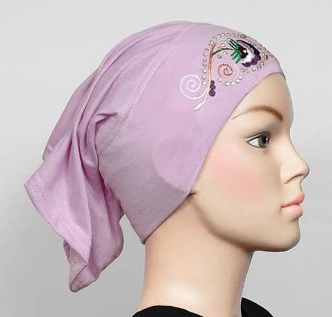 Free Shipping Embroidered  Cotton Maxi Tube Band Yoga headband Hijab Hejab Inner cap Muslim